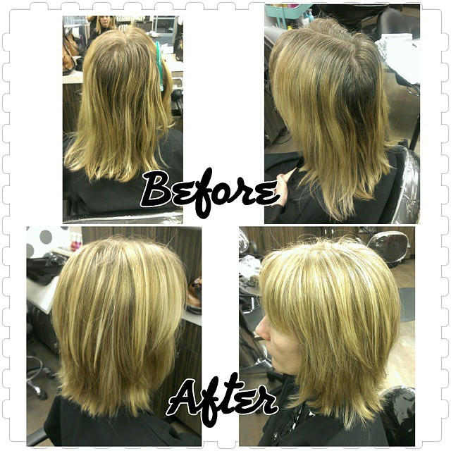 Before And After Nobasecolor Highlights Lowlights Hair Flickr