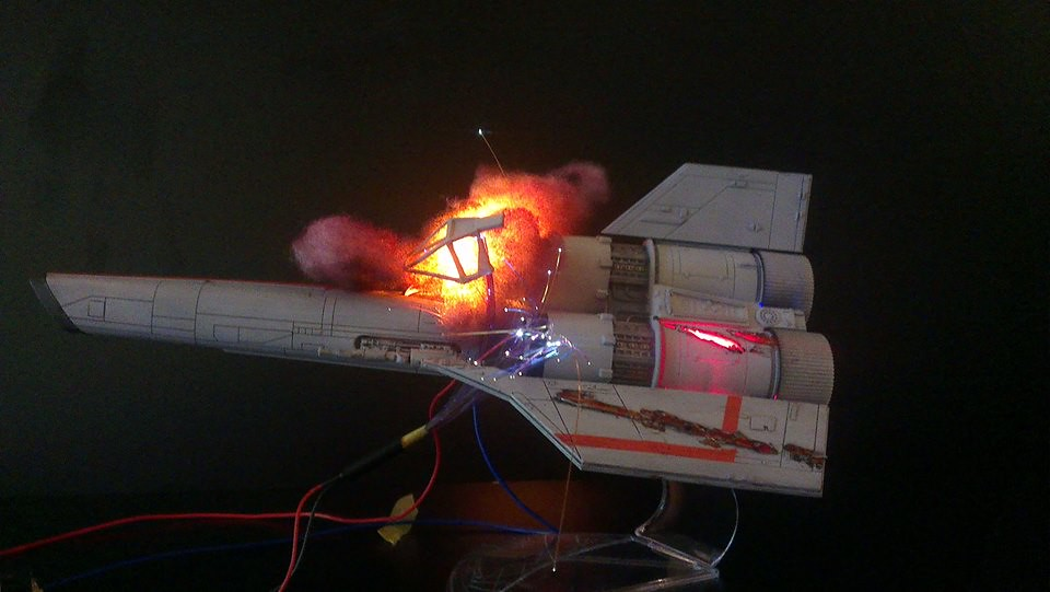 Battlestar Galactica diorama by model maker Brendan Durham