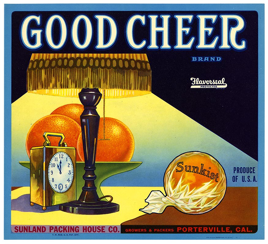 Orange crate label, Good Cheer Brand, Western Litho. Co . | by California Historical Society Digital Collection