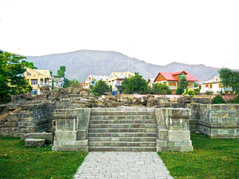 Avanti Shovra Temple in Awantipora, Jammu and Kashmir, India