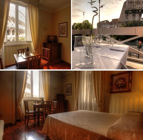 Royal House es un precioso hotel en Roma con vistas Coliseo
