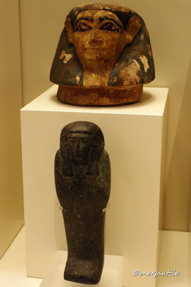 Lid From A Canopic Vase And Ushabti Figurine Wooden Anthro Flickr