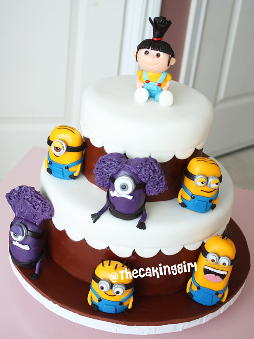 Despicable Me Cake With Agnes And Minions Visit My Blog At Flickr