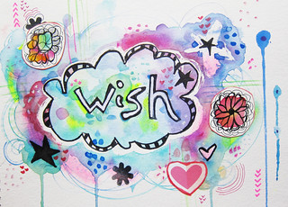 Wish watercolor collage | by marciadotcom