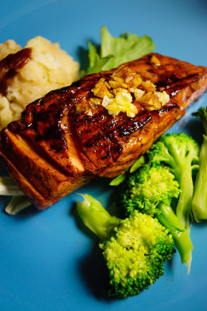 Menu 4 Grilled Salmon Song Zhen Flickr