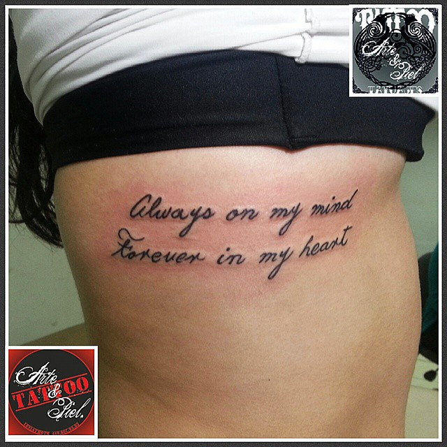 Frase Costillas Tattooarteypiel Tatuajes Artisticos Flickr