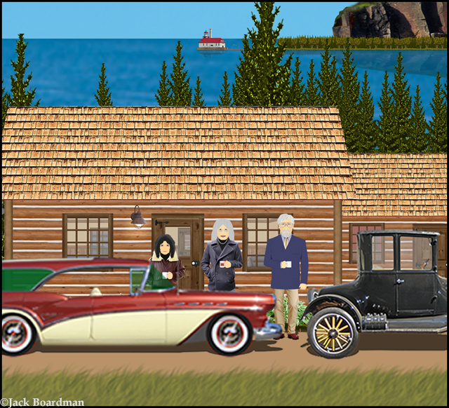 Lacy met Karen at the cabin ©Jack Boardman