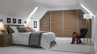 Bedroom with angled sliding wardobe doors | by BettaLivingUK