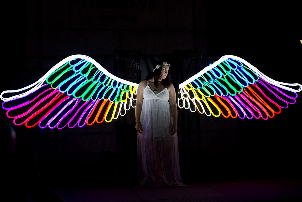 Neon Angel Wings Steve Collis Flickr