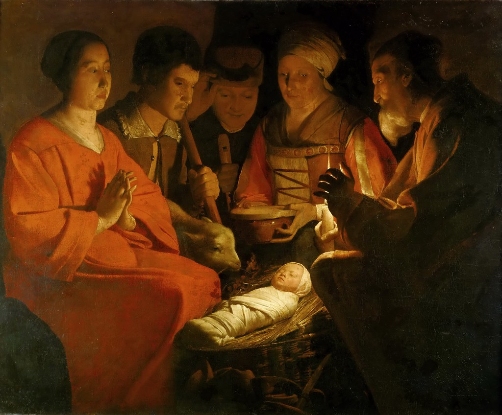 De La Tour Adoration Of The Shepherds