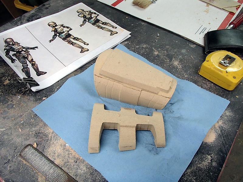Gauntlet Parts Carved