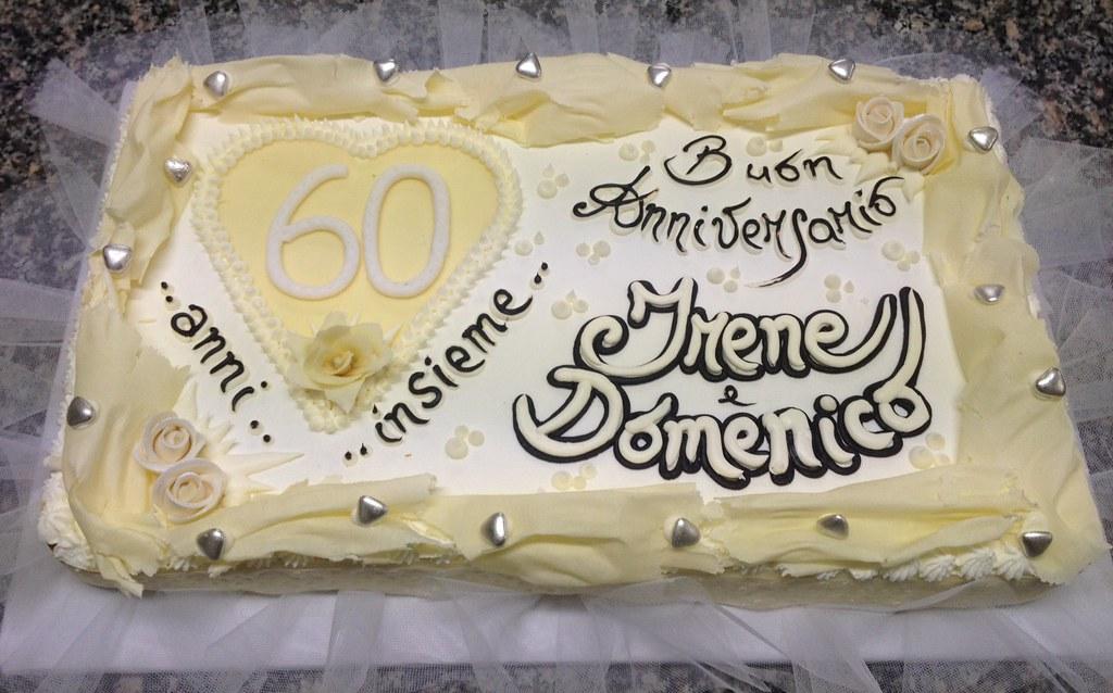 Torta anniversario 50 anni torta anniversario 60 anni for Decorazioni torte per 60 anni di matrimonio