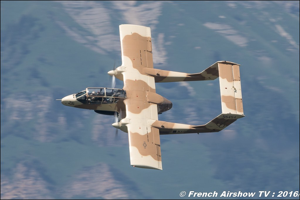OV 10 Bronco du MEAC de Montelimar , F-AZKM , North American OV-10 B Bronco - Grenoble Air show 2016 , Aerodrome du versoud , Aeroclub du dauphine, grenoble airshow 2016, Rhone Alpes