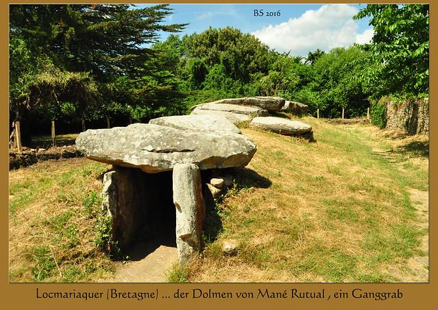 Bretagne - Golf von Morbihan - Locmariaquer - Dolmen von Mané Rutual - Ganggrab - Foto: Brigitte Stolle 2016