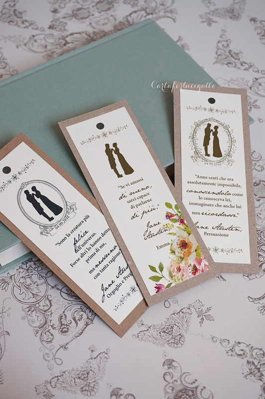Segnalibro Matrimonio Jane Austen - Jane Austen Wedding Bookmark