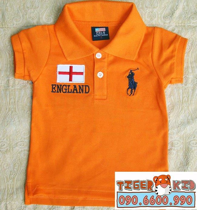 Quần áo trẻ em, bodysuit, Carter, đầm bé gái cao cấp, quần áo trẻ em nhập khẩu, Áo thun Polo bé trai 1T-7T thêu lá cờ