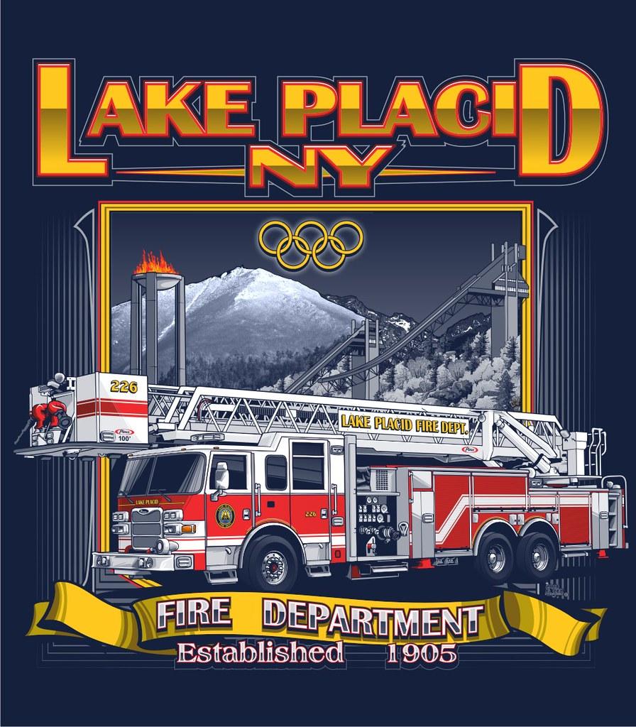 lake placid fire department lake placid  ny custom t Cool Fire Department Logos fire department graphic design