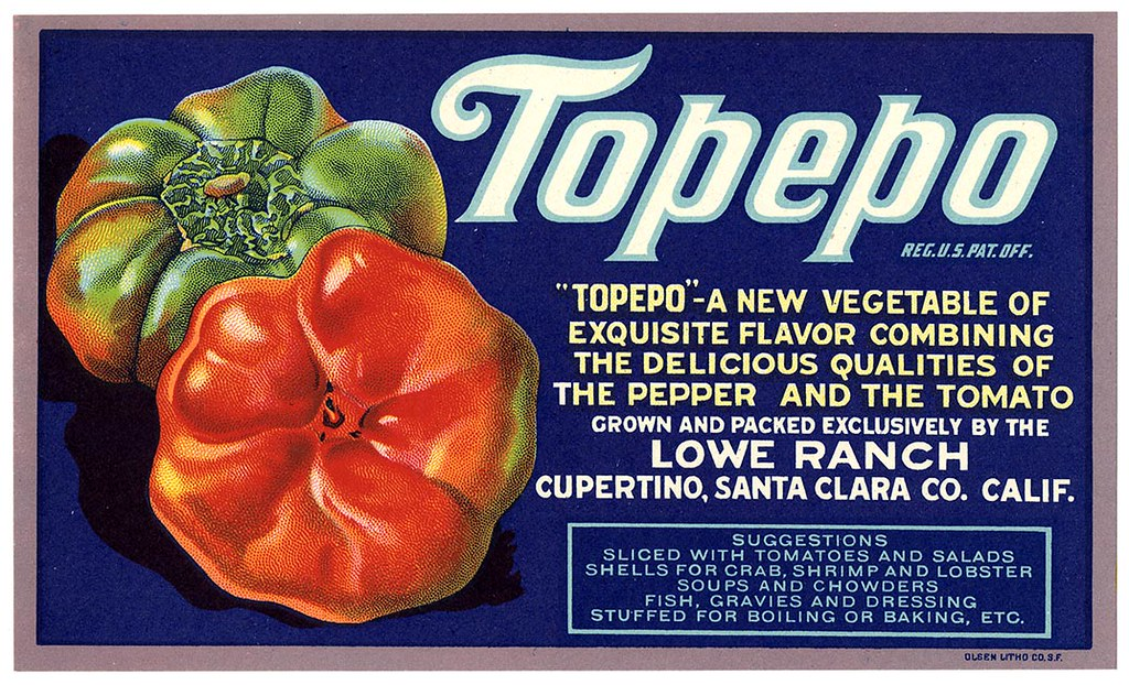 Topepo label, Olsen Litho. Co. | by California Historical Society Digital Collection