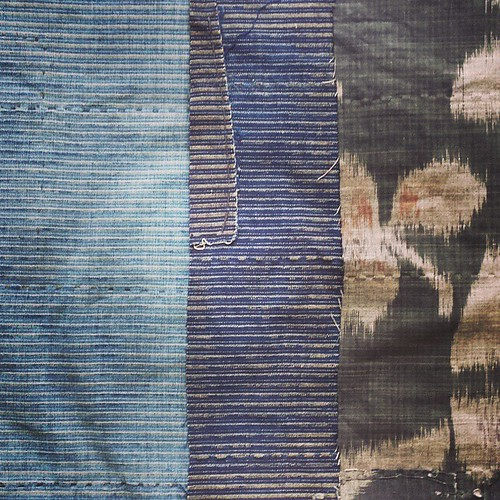 A selection of #antique #Japanese #fabrics I'll be working with #today. | by Ethical Life Store