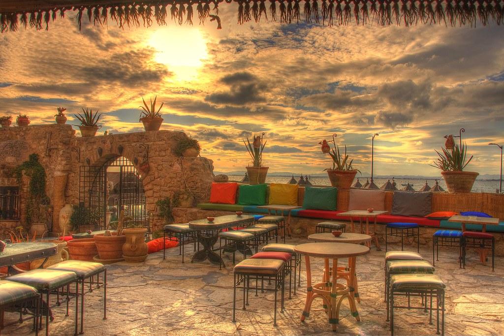 Sunset seats-Hammamet-Tunisia