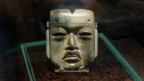 Olmec mask, c. 1200 - 400 B.C.E. | by profzucker