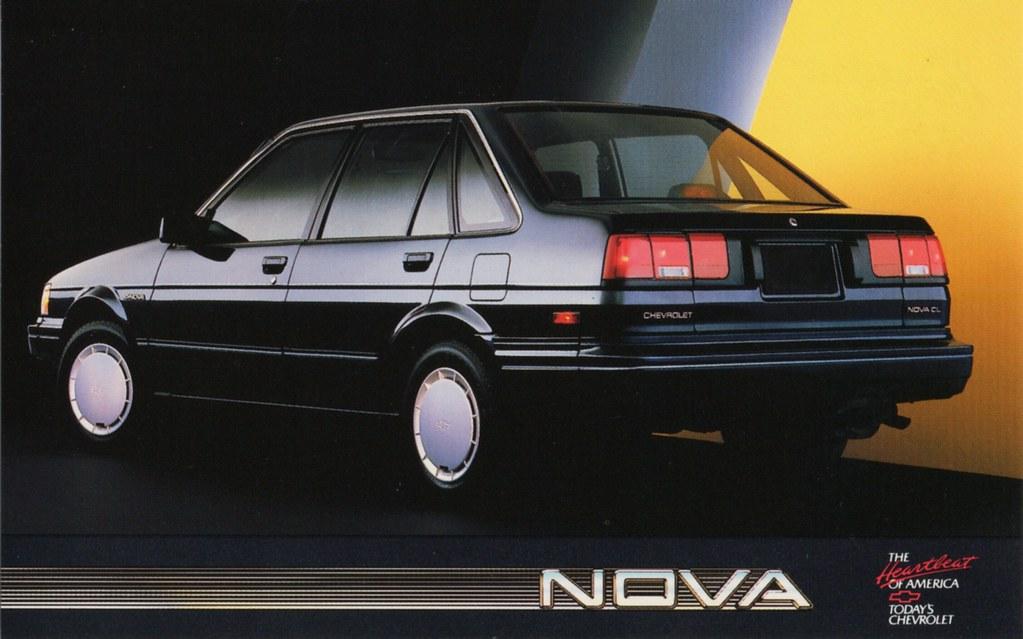 1987 Chevrolet Nova A Badge Engineered Toyota Corolla