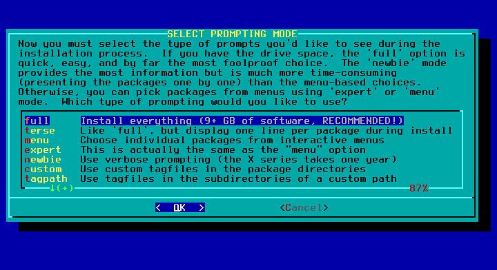 Slackware выбор пакетов