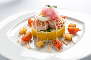PERUVIAN SHRIMP CAUSA | by Screaming Eagle Restaurant