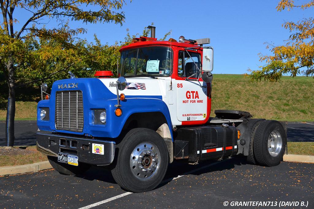 1985 Mack Truck : Mack r tractor trucks buses trains by