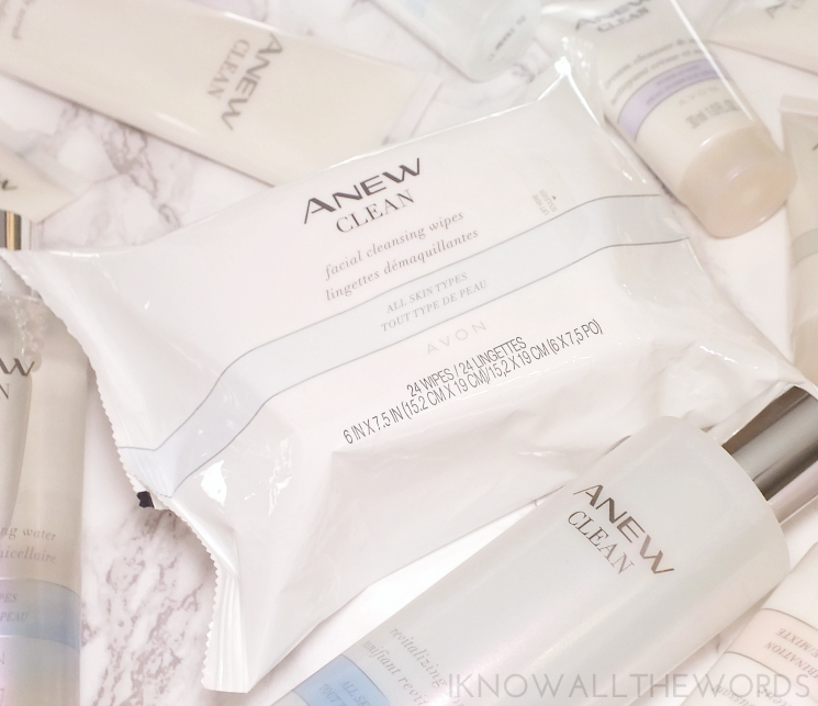 avon anew clean facial cleansing wipes