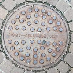 #Columbus 1987 #manholecover