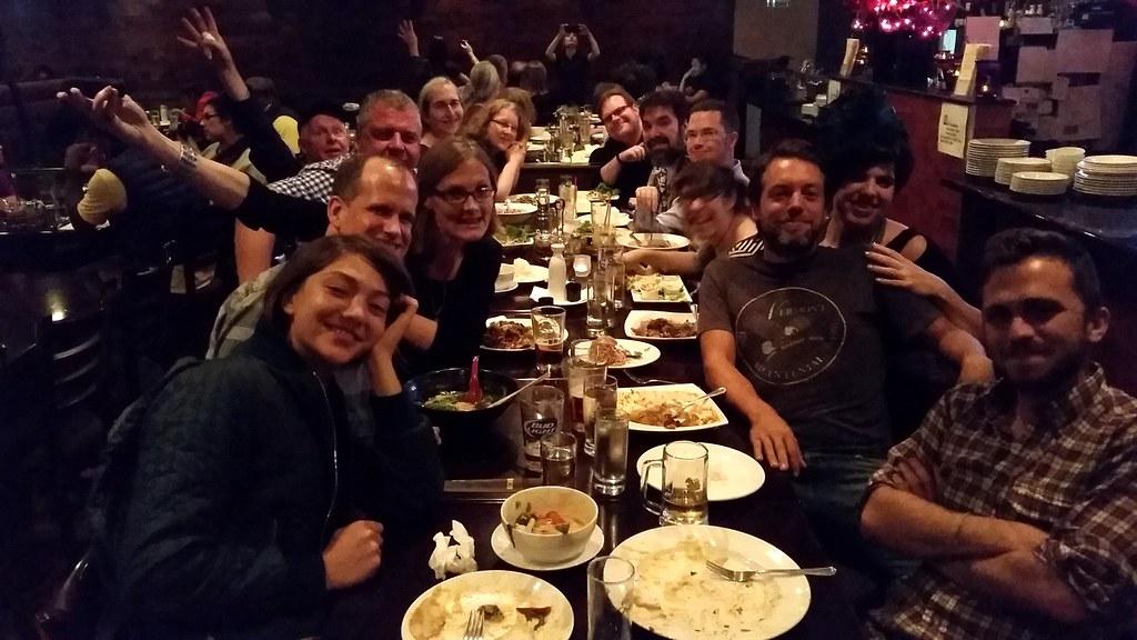 Staff dinner after event   Internet Archive   Flickr