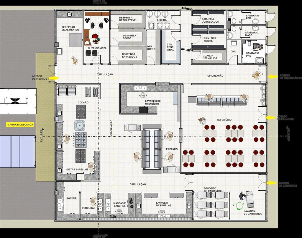 Planta Humanizada De Cozinha Industrial De Hospital Ceara Flickr