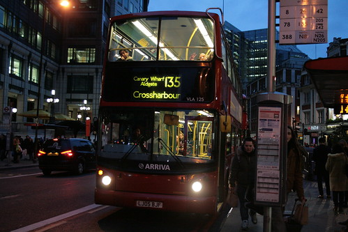Arriva London VLA125 on Route 135, Liverpool Street