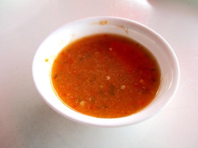 Chicken rice sambal