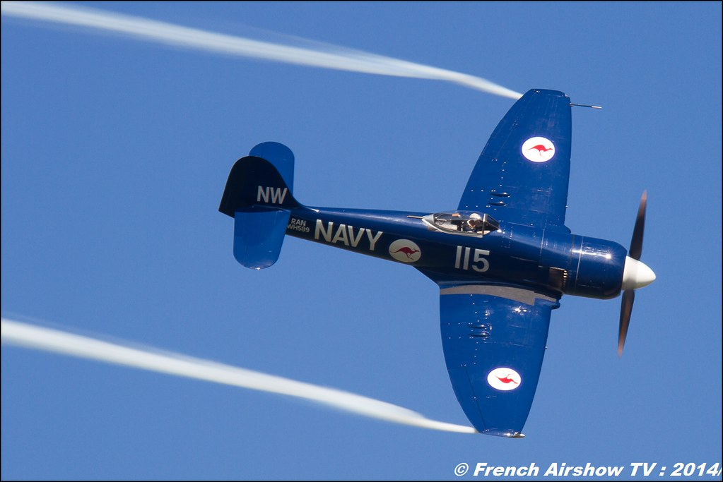 Hawker Sea Fury FB.11 37733 F-AZXJ Christophe JACQUARD AIR14 Payerne 2014 Canon Sigma France contemporary lens