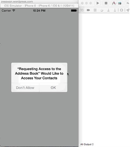 Requesting Access to the Address Book