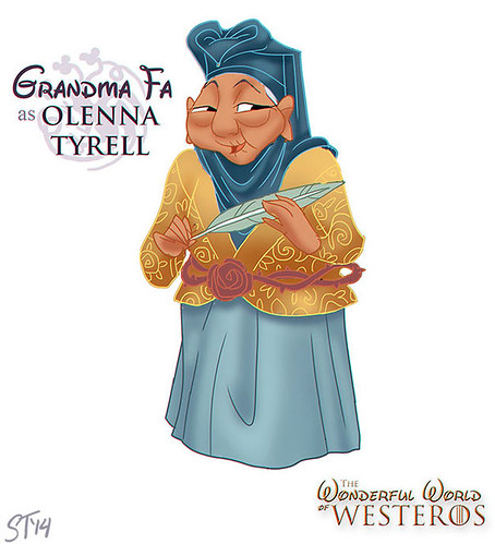 Disney Princesses vs Game of Thrones by DjeDjeHuti - Grandma Fa as Olenna Tyrell