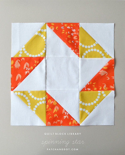 spinning star quilt block | by patchanddot