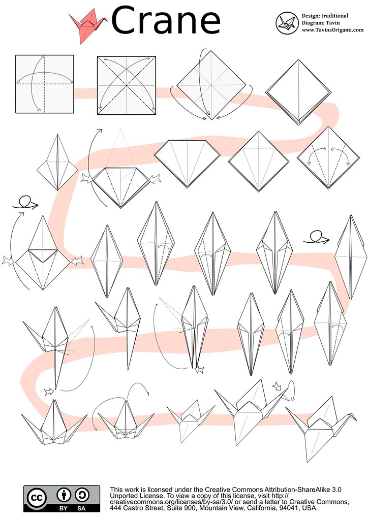 origami crane diagram tavins origami flickr rh flickr com origami crane instructions video origami crane diagram steps