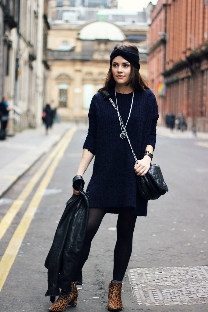 River Island Navy Knitted Jumper Dress 5 Magpie132 Flickr