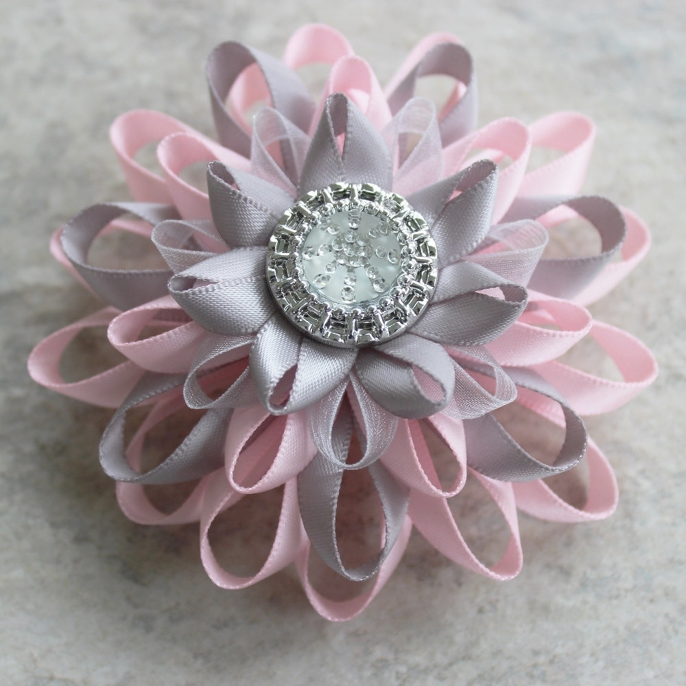 Pink And Gray Wedding Womens Hair Clip Adult Hair Clip Flickr