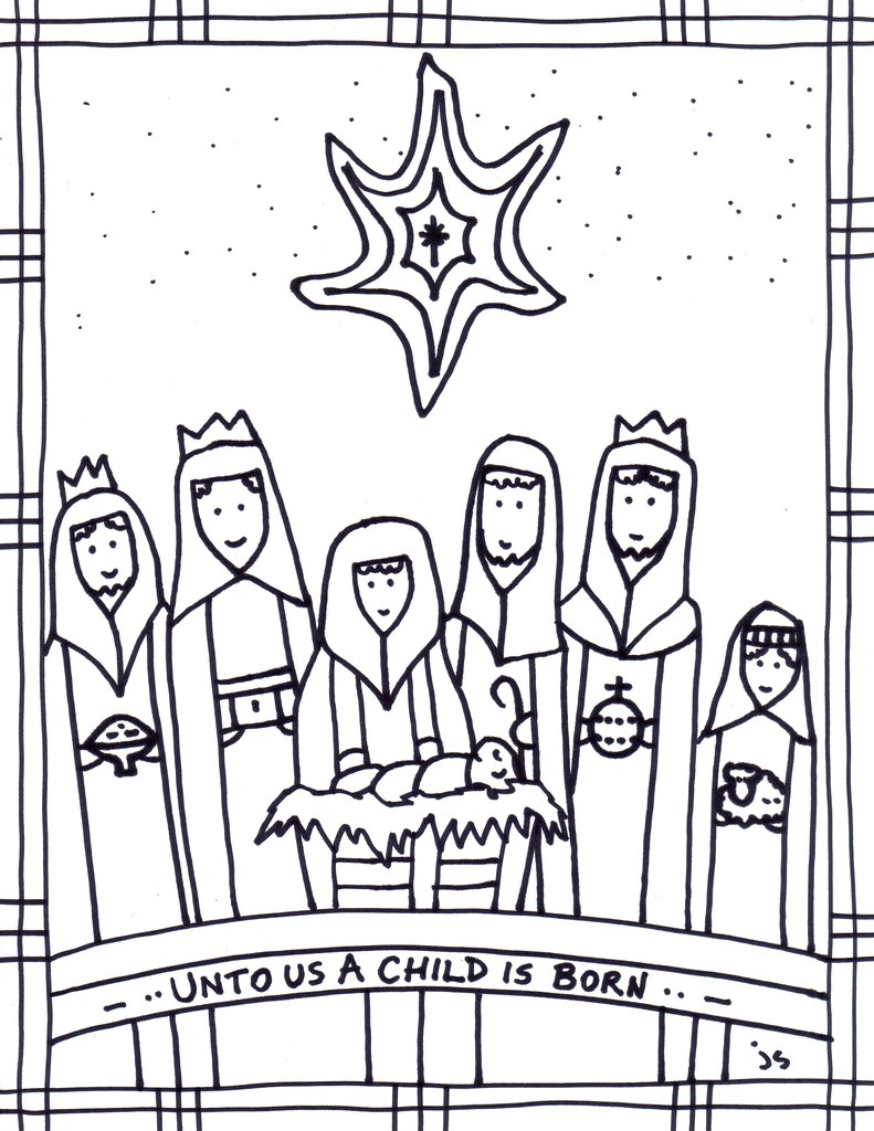 epiphany coloring pages free - photo#17