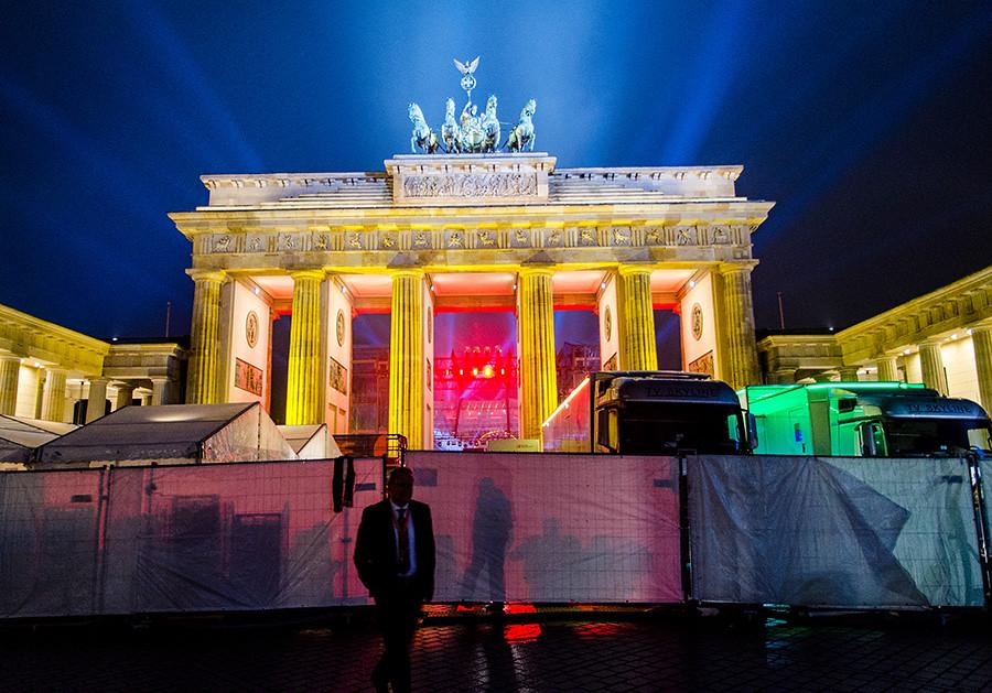 Brandenburg Gate Berlin New Year New Years Eve at Brandenburg