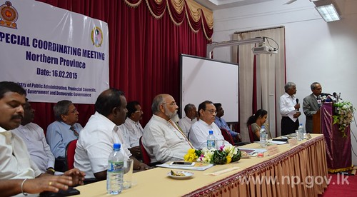 Special Coordinating Meeting for Northern Province held in Jaffna