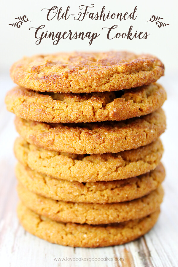 These Old-Fashioned Gingersnap Cookies are just like grandma used to make! Perfectly crisp with plenty of ginger and molasses flavor! They are sure to become a family favorite!