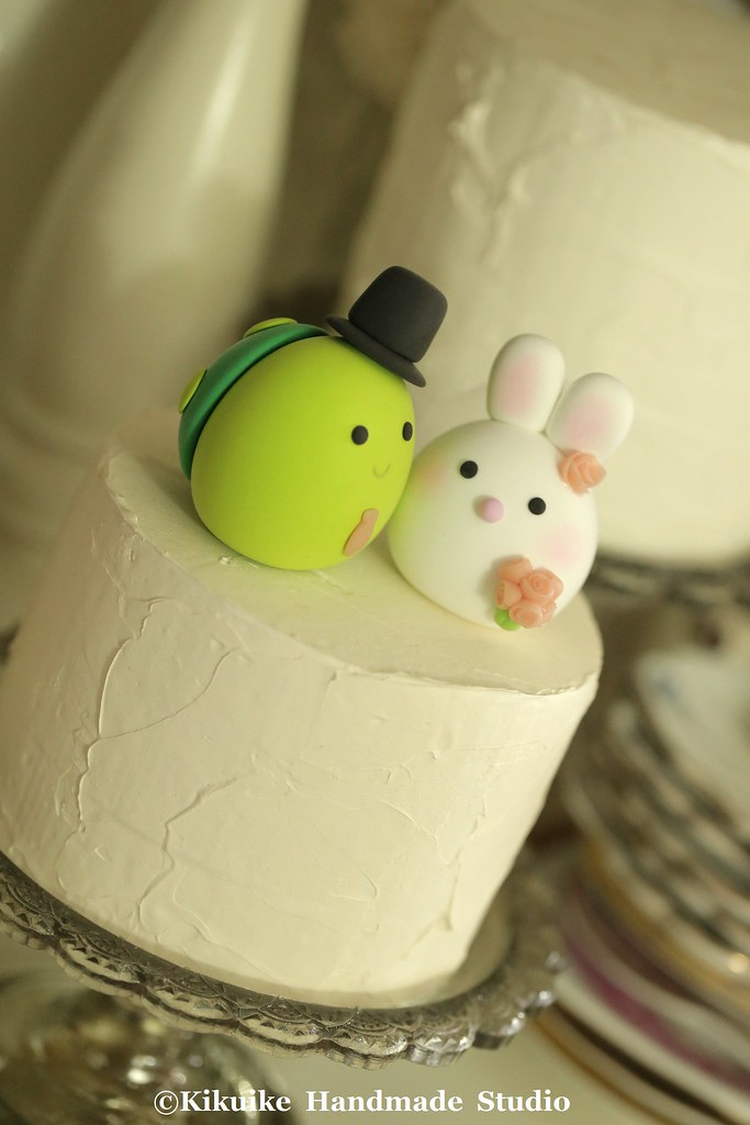 Bunny, Rabbit and Turtle wedding cake topper | www.etsy.com/… | Flickr