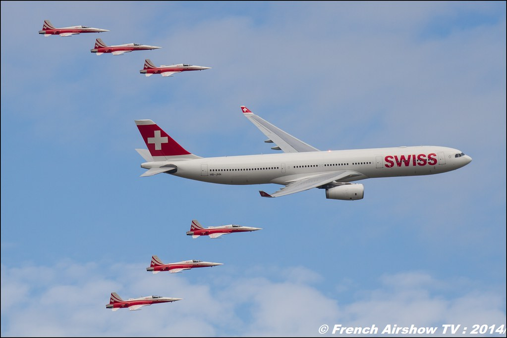 Patrouille Suisse & A-330 Swiss Air , Airbus - F-5 Tiger II , AIR14 Payerne , suisse , weekend 1 , AIR14 airshow , meeting aerien 2014 , Airshow