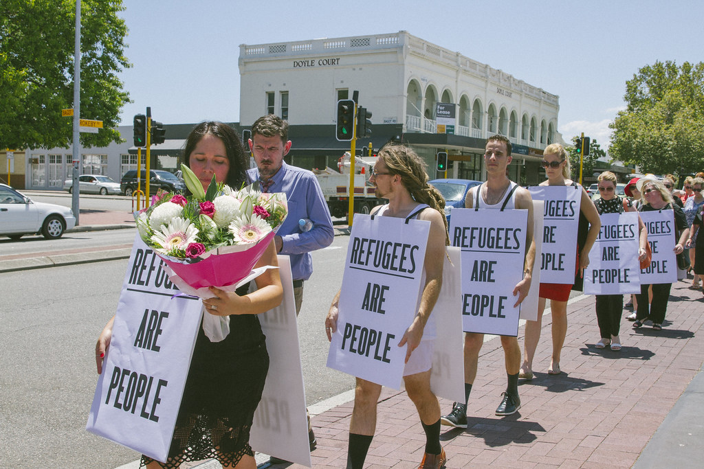 Refugee protest Perth
