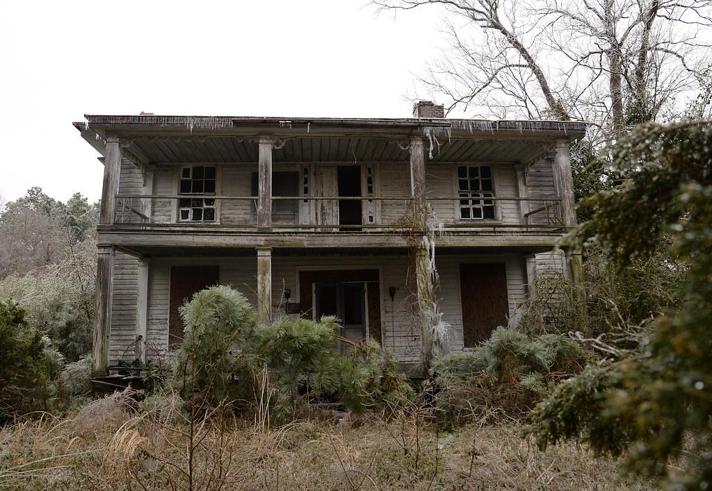 Ice Encrusted Abandoned Antebellum Plantation House Flickr